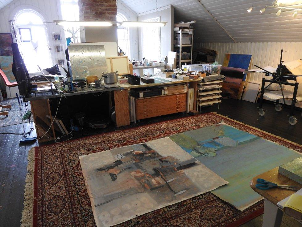 Arbeidsrommet til Janet Sandø-Healey